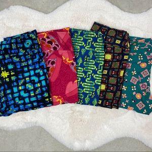 5 Pair LuLaRoe one size soft knit leggings